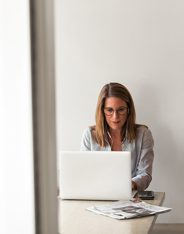 woman accountant working remotely