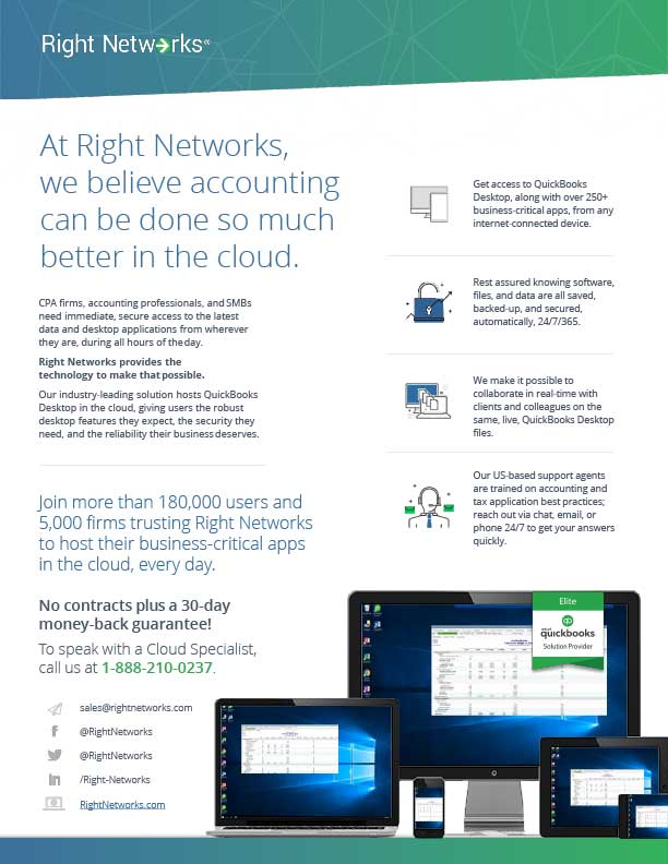 Right Networks Accounting Product Sheet